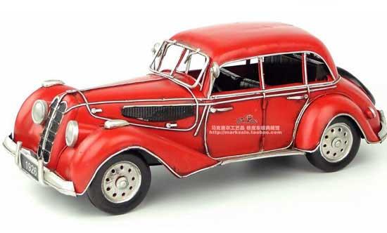 Red Medium Scale Handmade Vintage 1939 Bmw 335 Sedan Model Tm01a279